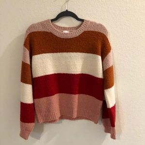 Sweaters - Chunky striped sweater size small but fits medium